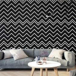 Tapeta na ścianę - black chevron , rodzaj - tapeta flizelinowa laminowana