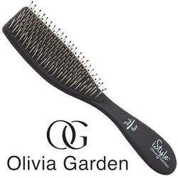 Olivia garden istyle thick hair, profesjonalna szczotka do włosów czarna