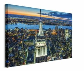 Empire State Building at Night - obraz na płótnie