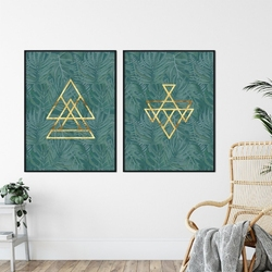 Zestaw dwóch plakatów - tropicana modernity , wymiary - 50cm x 70cm 2 sztuki, kolor ramki - biały