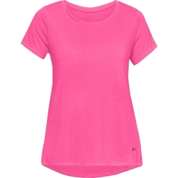Koszulka damska ua whisperlight ss foldover - różowy