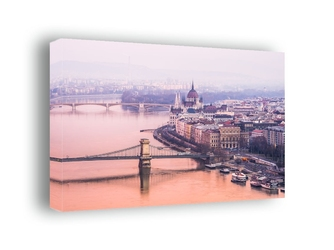 Budapeszt, parlament - obraz na płótnie wymiar do wyboru: 120x90 cm
