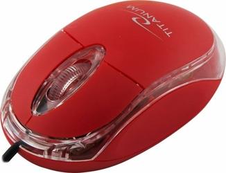 Mysz optyczna przewodowa USB TITANUM RAPTOR Czerwona