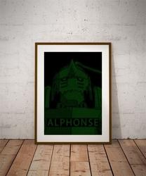 H4ck3d - alphonse, fullmetal alchemist - plakat wymiar do wyboru: 30x40 cm