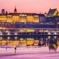 Warszawa zamek królewski bajkowy zamek - plakat premium wymiar do wyboru: 59,4x42 cm