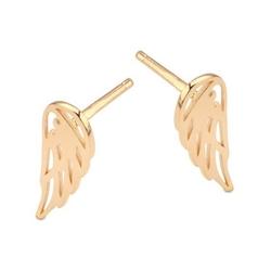 Staviori kolczyki skrzydła anioła żółte złoto 0,333. wymiary 15x5,5 mm.