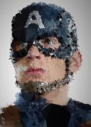 Polyamory - kapitan ameryka, marvel - plakat wymiar do wyboru: 42x59,4 cm