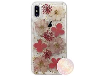 Etui puro glam hippie chic cover apple iphone xxs różowe - przezroczysty || różowy