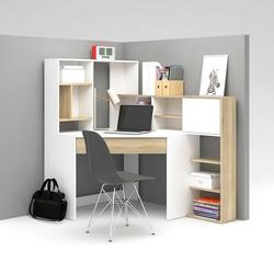 Function plus biurko narożne z regałem