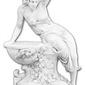 Figura-donica z betonu, kobieta 141cm
