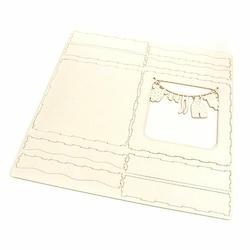 Pudełko na kartkę 13,5x13,5 cm Chrzest Dziecko