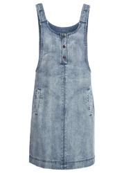"""Sukienka dżinsowa ogrodniczka na regulowanych ramiączkach bonprix niebieski bleached"""""""