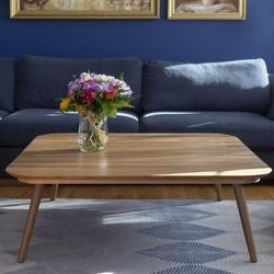 Kwadratowy stolik kawowy z drewna contrast tetra
