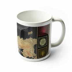 Gra o tron Mapa Westeros i Essos - kubek z serialu