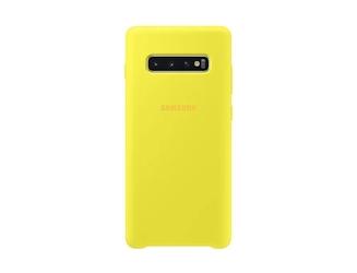 Samsung etui silicone cover galaxy s10+ żółte