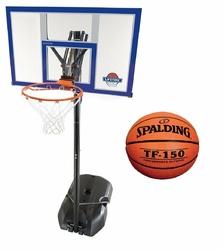 Zestaw do koszykówki Lifetime New York + Piłka Spalding TF-150 FIBA