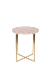 Zuiver stolik luigi okrągły różowy 2300180