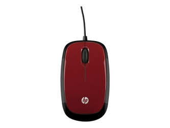 Hp mysz x1200 wired red mouse