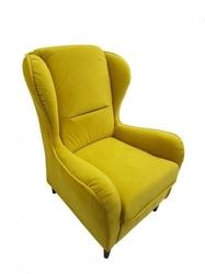 Fotel uszak w skandynawskim stylu