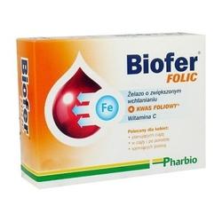 Biofer folic tabletki biofer folic 80tabl.