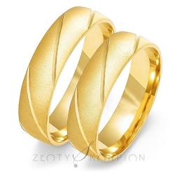 Obrączki ślubne złoty skorpion – wzór au-o105