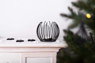 Świecznik metalowy altom design czarny 14 x 12 cm
