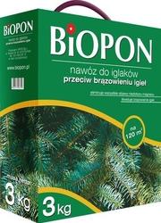 Biopon, nawóz granulowany do iglaków przeciw brązowieniu, 3kg