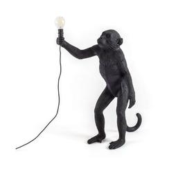 Lampa Monkey czarna stołowa stojąca