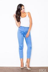 Niebieskie klasyczne spodnie cygaretki długości 78