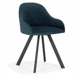 Krzesło z tapicerowanym siedziskiem perla nms