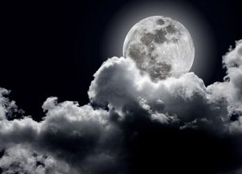 Pełnia księżyca - fototapeta