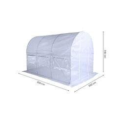 Tunel ogrodowy foliowy ketten small 250x350 cm 7m2 biały