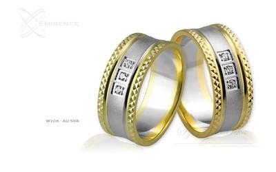 Obrączki ślubne - wzór au-568