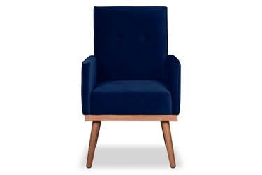 Krzesło klematisar welurowe granatowy