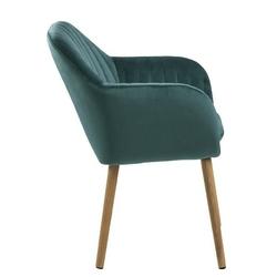 Krzesło do salonu emily zielone welur