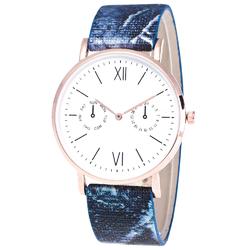 Zegarek żmijka niebieski - niebieski