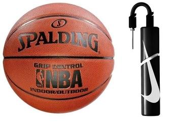 Piłka do koszykówki spalding grip control indooroutdoor + pompka nike essential