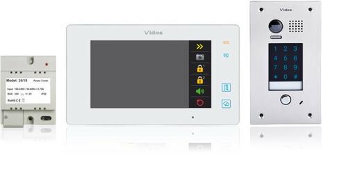 Wideodomofon VIDOS DUO M1021W  S1401D - Szybka dostawa lub możliwość odbioru w 39 miastach