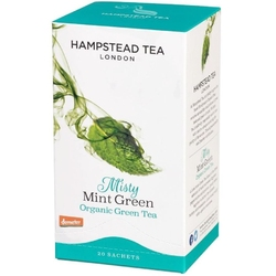 Hampstead | misty mint green - herbata zielona z miętą saszetki 40g | organic