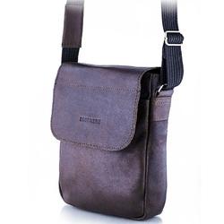Skórzana torba męska raportówka brodrene bl07 ciemnobrązowa - c. brązowy