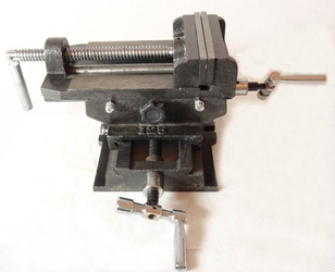 Imadło maszynowe krzyżowe dwuosiowe 125mm geko