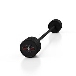 Sztanga gumowana prosta 35 kg czarny mat - marbo sport - 35 kg