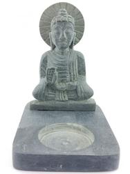 Świecznik budda z kamienia mydlanego