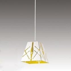 Outlet - lampa wisząca modern design no.2 biała żółta