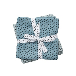 Zestaw pieluszek muślinowych done by deer dots 70x70 - niebieski