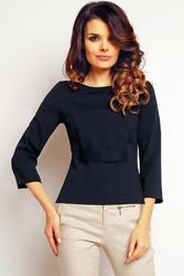 Granatowa elegancka krótka bluzka