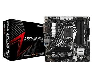 ASRock Płyta główna AB350M PRO4 R2.0 4DDR4 USB3.1DVIHDMIVGA uATX