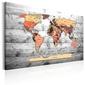 Obraz - mapa świata: nowe kierunki
