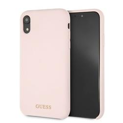GUESS Etui hardcase GUHCI61LSGLLP iPhone Xr Silicone jasnoróżowy