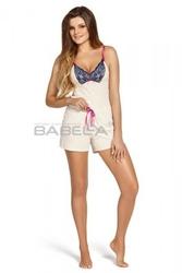 Babella rafaela ecru piżama damska